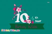 Happy Birthday 10th