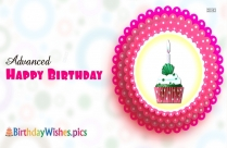Happy Birthday Cupcake With Name