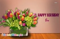 Happy Birthday Dear With Flowers
