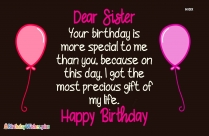 Happy Birthday To Elder Sister