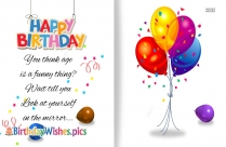 Happy Birthday Funny Wishes | You Think Age Is A Funny Thing