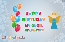Happy Birthday My Angel Daughter