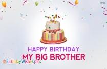 Happy Birthday My Big Brother
