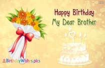 happy birthday my lovely brother