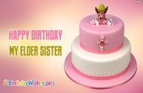 Happy Birthday My Elder Sister