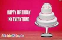 Happy Birthday My Love Status