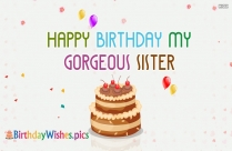Happy birthday sis quotes images