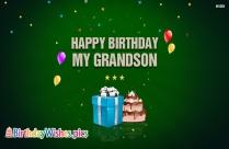 Happy Birthday My Grandson