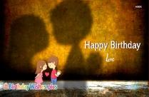 Happy Birthday Love Images