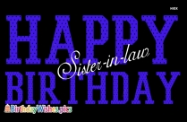 happy birthday sis in law