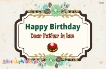 Happy Birthday To Father In Law