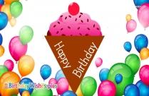Happy Birthday With Icecream