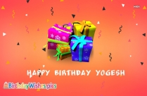 Happy Birthday Yogesh