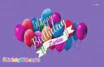 Happy Birthday Zarina