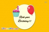 Happy Birthday. Enjoy The Day