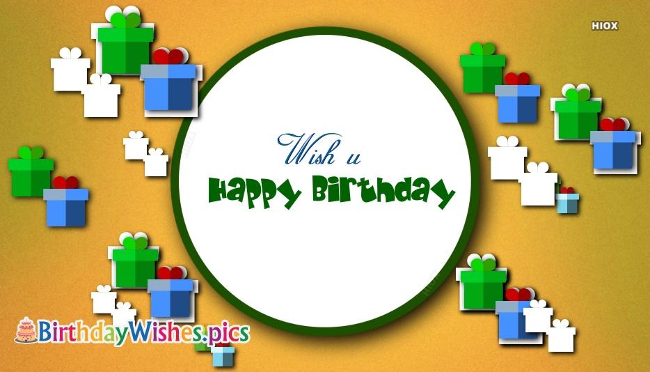 Wish U Happy Birthday Images