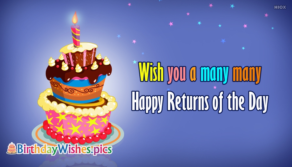 Wish You A Many Many Happy Returns Of The Day - Birthday Wishes for Colleague